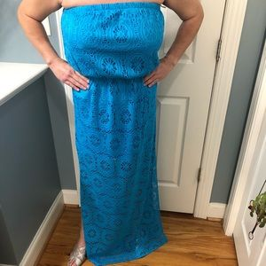 Lilly Pulitzer strapless maxi
